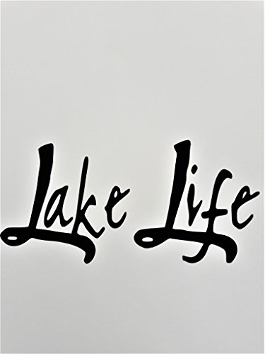 Lake Life (2 PACK) Fishing Camping Boating Vinyl Decal Sticker|BLACK|Cars Trucks SUV Laptops Boats Canoe Kayak Wall Art|5.5