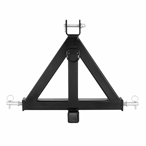 Happybuy 3 Point 2 Inch Drawbar Stabilize Steel Drawbar Pull 3 pt Tractor Trailer Hitch Receiver 3 Point Trailer Receiver 1 Tractor Tow Hitch Drawbar (Best Small Utility Tractor)
