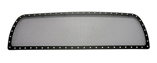 MPH 2010 2011 2012 Dodge Ram 2500/ 3500 Stainless Steel Black Rivet Metal Mesh - 2011 Dodge Grille 3500