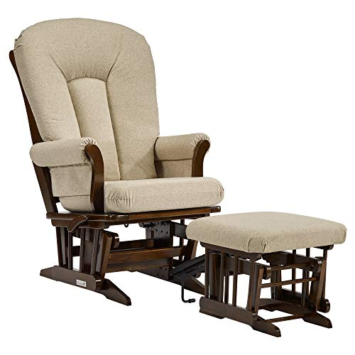 Dutailier Sleigh 0396 Glider Multiposition-Lock Recline with Nursing Ottoman Included