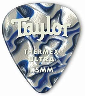product image for Taylor Guitars DarkTone 351 Blue Swirl Thermex Ultra Picks, 6 Pack, 1.5 mm