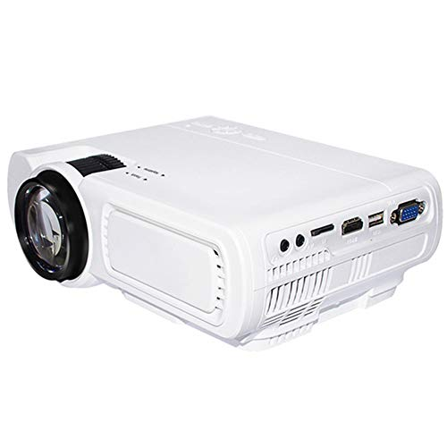 WAYPGC Home Projector, 1800 Lumens LED Eye Protection, Compatible with AV VGA HDMI USB TF, 100 Inches, Suitable for Home Theater Projectors,White720P from WAYPGC