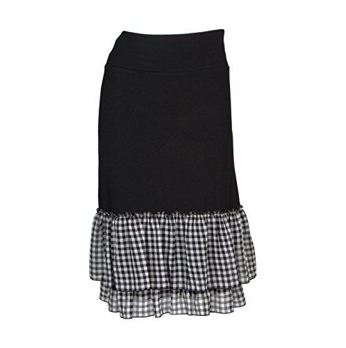 Peekaboo-Chic Cottage Check Half Slip Skirt Extender (Black, l/XL) by Peekaboo-Chic (Image #10)