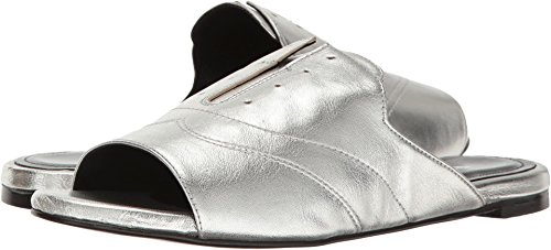 CHARLES DAVID Women's Smith Slide Sandal, Silver, 7.5 M US