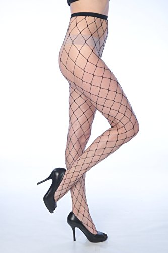 Isadora Paccini Women's 6-Pack Fishnet Lace Pantyhose Tights (One Size Fits Most, black 807) by Isadora Paccini