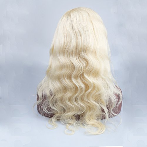 Sent Hair Glueless Full Lace Wig Human Hair Body Wave 613 Blonde Wigs with Baby Hair Free Part (20 inch Body Wave Full Lace Wig) -  Qingdao Sent Hair Products Co.,Ltd., 613-FLW-BW-F20