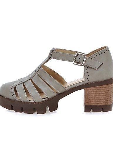 LFNLYX Zapatos de mujer-Tacón Plano-Comfort / Innovador / Punta Redonda / Botas a la Moda / Zapatos y Bolsos a Juego / Zapatillas-Sandalias / Brown