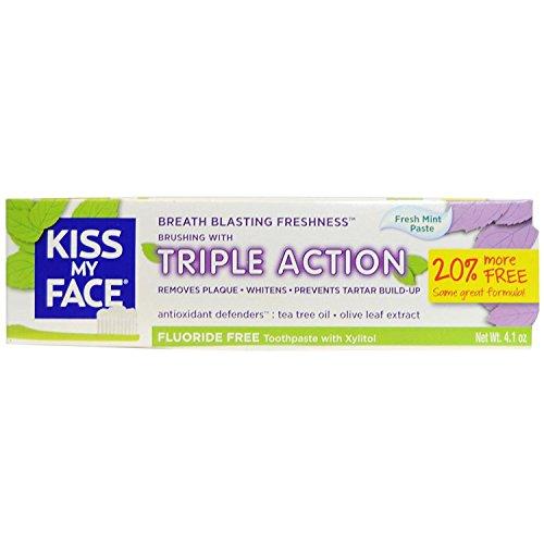 Kiss My Face, Tpaste,Triple Action 4.1 Oz Ea 1