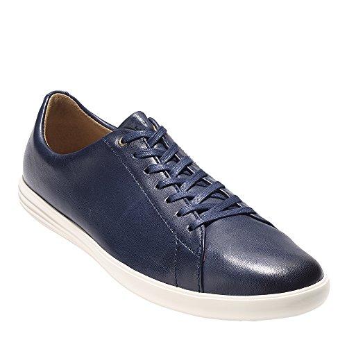 Cole Haan Men's Grand Crosscourt II Sneaker, Navy Leather Burnished, 9.5 Medium US by Cole Haan