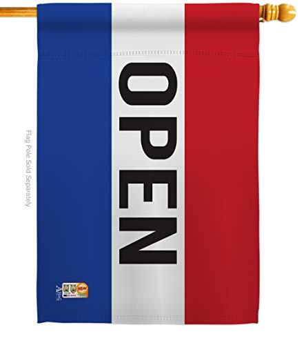 Open Vertical Flag - Americana Home & Garden H140792-BO Open Special Occasion Merchant Impressions Decorative Vertical 28