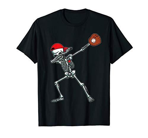 Baseball Girl Halloween (Dabbing Skeleton Baseball TShirt Funny Halloween Gift)