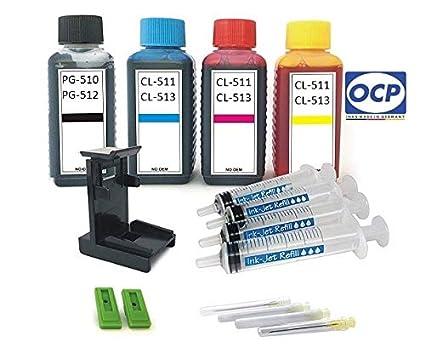 Set de relleno - 4 x 100 ml OCP recarga (fabricado en Alemania ...