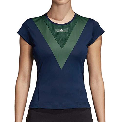 adidas Women's by Stella McCartney Barricade Tee Collegiate Navy Medium
