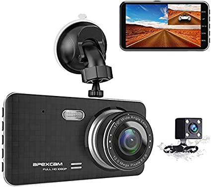 Full HD 1080P Dash Cam with Sony Sensor 170 Wide Angle Car Dashboard Vehicle Videos Driving Recorder with Night Vision Dash Camera for Cars Loop Recording G-Sensor WDR