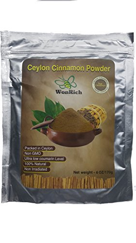Natural Ceylon Cinnamon Powder 6 Oz in a Stand Up, Resealable Pouch
