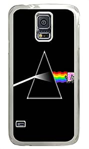 Samsung Galaxy S5 sparkly case Nyan Side Of The Moon Best PC Transparent Custom Samsung Galaxy S5 Case Cover