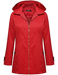 Amazon.com: Red - Trench, Rain & Anoraks / Coats, Jackets & Vests ...