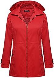 Amazon.com: Red - Trench Rain &amp Anoraks / Coats Jackets &amp Vests