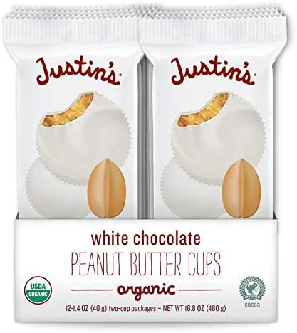 Chocolate Candies: Justin's White Chocolate Peanut Butter Cups