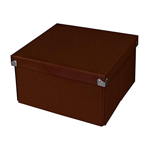 Pop N' Store Caja de almacenaje con tapa–Plegable y apilable, 39.7x 19,1x 14,6cm, Negro, Medium Square, Medium...