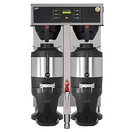 - Curtis TP15T10A1500 Automatic Twin Coffee Brewer w/ (2) Lower Warmer & Hot Water Faucet, 220v/1ph