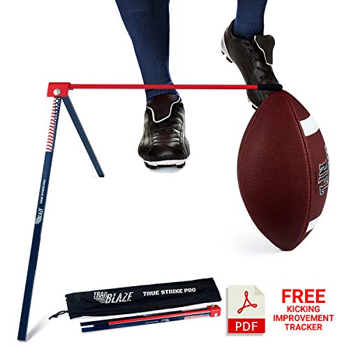 Trailblaze True Strike Pro Football Kicking Tee Holder - Premium Quality Kickoff Football Holder Tee Compatible with All Ball Sizes - Field Goal Place Holder for All Weather Conditions (Kicking Football Accessories)
