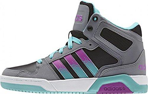 adidas BB9TIS Mid K - Zapatillas Para Niño Negro / Fucsia / Turquesa