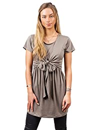 sofsy Soft-Touch Rayon Blend Tie Front Nursing Top Maternity Fashion