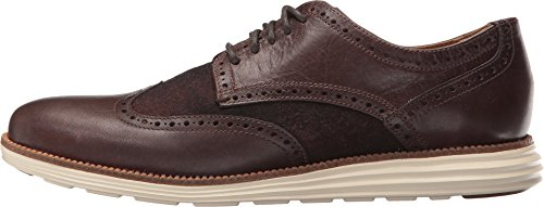 Cole Haan Heren Originele Grand Vleugeltip Oxford Chestnut Leder / Bruin Plaid / Ivoor