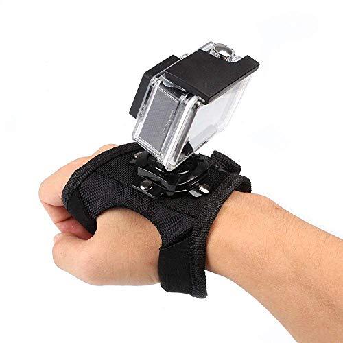 Kaliou Hand Palm Wrist Strap with 360 Degree Panoramic Rotation Mount for GoPro Hero 7 5 6 4 Black Session,Xiaoyi 4K SJCAM SJ6 Eken H9 Action Camera Accessories