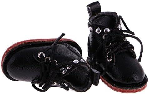 PUレザー製 人形靴 ブーツ 12インチドール用 装飾 アクセサリ 贈り物 1ペア入り - ブラウン