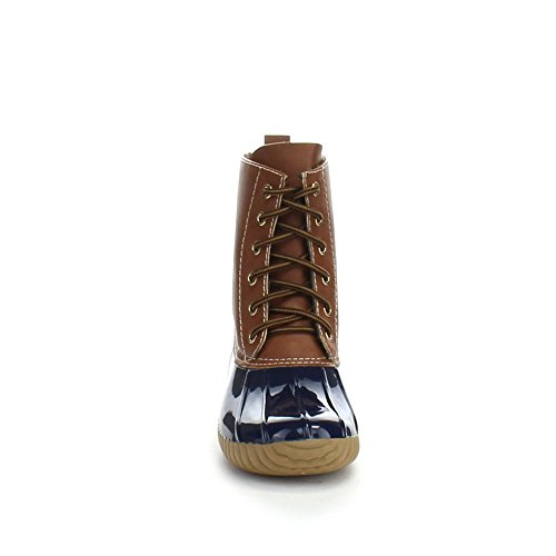 Tone Womens Rain Lace Two Style Up Navy Duck Combat AXNY Dylan Calf Boots qXCxO