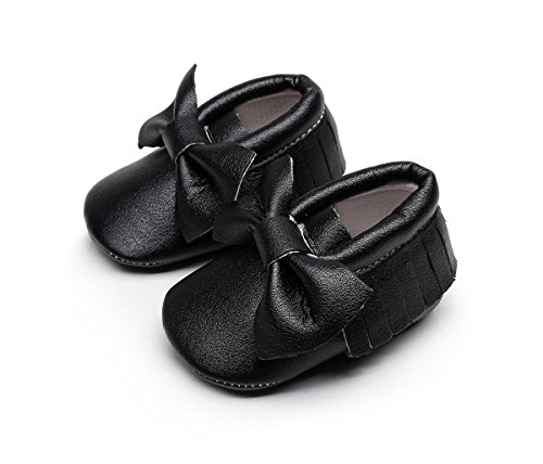 AngelaKerry - Zapatos primeros pasos de Otra Piel para niño negro