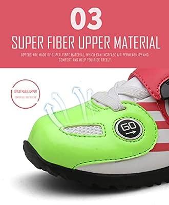 NAMENLOS Zapatillas de Ciclismo con autobloqueo para niños ...