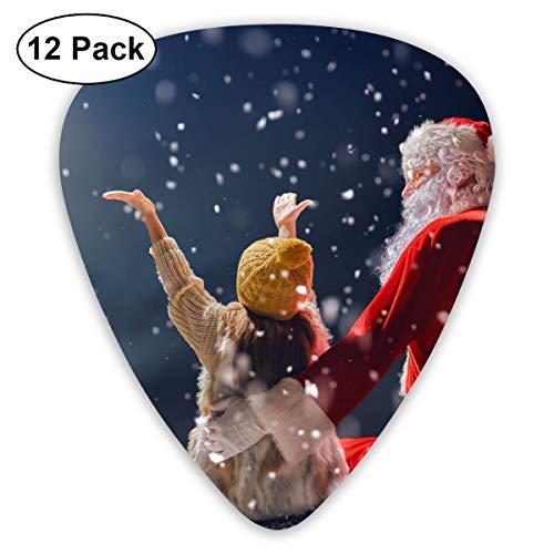 HOOAL Custom Guitar Picks, Winter Christmas Santa Claus and Kid Guitar Pick,Jewelry Gift For Guitar Lover,12 -