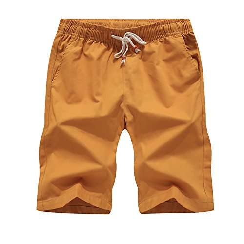 spyman Slim Fit Casual Shorts Mens Fashion Brand Boardshorts Men Shorts Quick Dry Bermuda Casual Jogger Plus Size M-5XL 09,Yellow,L
