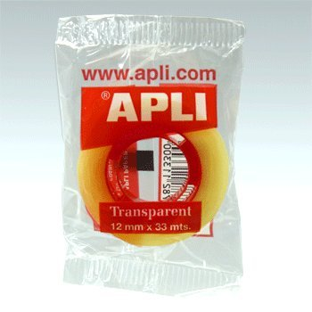 APLI/ /Nastro adesivo Sacchetto trasparente 12 mm x 33 m