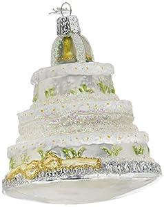 Amazon.com: Old World Christmas Wedding Cake Glass Blown Ornament ...