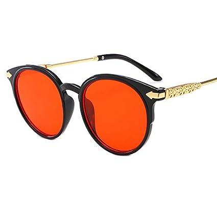 TYJYY Gafas de Sol Moda Retro Gafas Redondas Lindo Metal Ojo ...