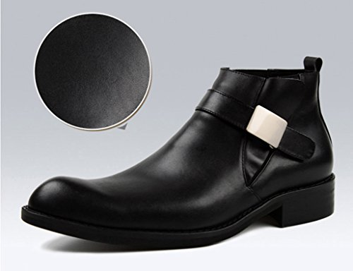 Scarpe Uomo in Pelle Martin Boots Scarpe da uomo in pelle Scarpe alte Scarpe corte stile inglese ( Colore : Nero , dimensioni : EU38/UK5.5 ) Nero