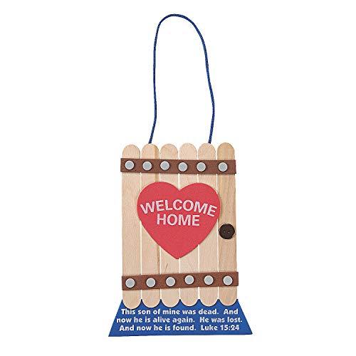 Fun Express - Prodigal Son Door Sign ck - Craft Kits - Hanging Decor Craft Kits - Misc Hanging Decor Craft Kits - 12 Pieces -