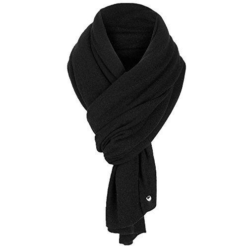 UGG Women's Luxe Oversized Wrap Black Scarf One Size