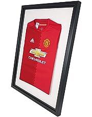 Vivarti DIY sportshirt voor volwassenen displayframe 60x80cm - zwart frame, zwarte binnenkant, witte montage