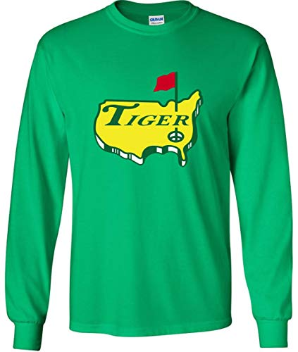 Long Sleeve Green Tiger The Masters Logo T-Shirt Adult ()