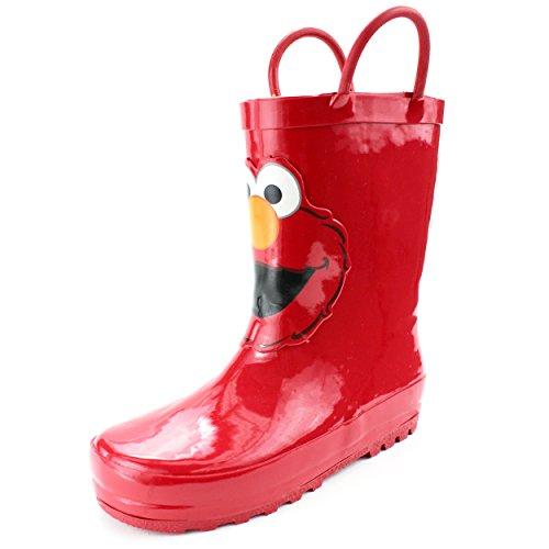 Sesame Street Elmo Kids Rain Boots (5/6 M US Toddler, Elmo Red) ()