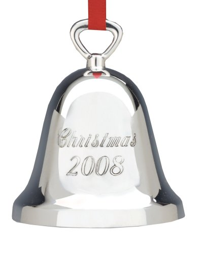 Reed & Barton Annual Silverplated Bell Ornament, Christmas - Ornament 2008 Tree Christmas