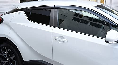 ITrims for Toyota C-HR 2016 2017 2018 Visor Vent Shades Window Sun Rain Guard Deflector 4pcs