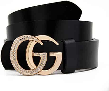 7309f7132080 Women s Belts Cowhide Leather Belt Fashion Gold Zircon Buckle Gift Box By  GAGOTE