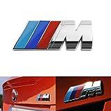 bmw m power - BMW M Power Badge Tri Color, Rear Emblem Car Decal Logo Sticker for All Models BMW 1 3 5 7 Series E30 E36 E46 E34 E39 E60 E65 E38 X1 X3 X5 X6 Z3 Z4 (Silver)