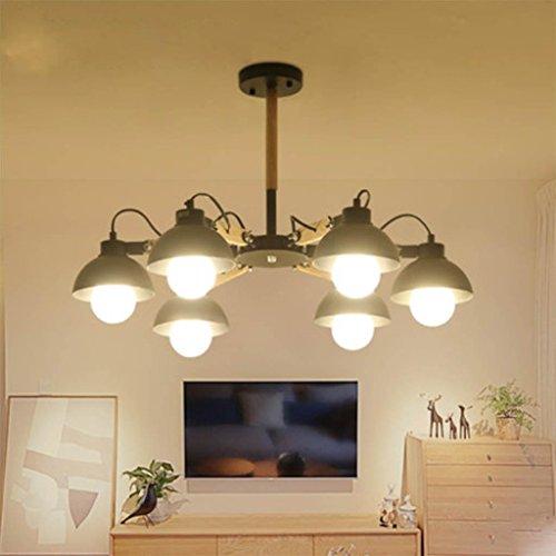 Deckenleuchte Loft Kronleuchter Modern Kreative Wohnzimmer Lampe  Schlafzimmer Restaurant Eisen Kunst Holz Kunst Lampe Kronleuchter 7585CM